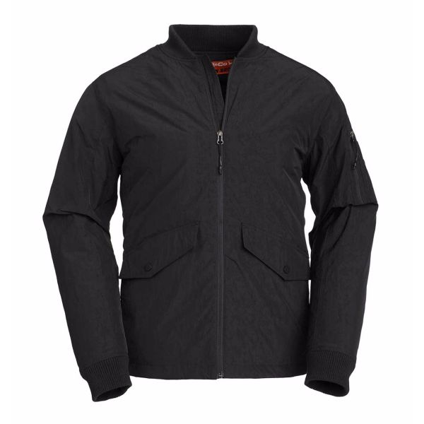 Side Paneled Bomber Black Jacket
