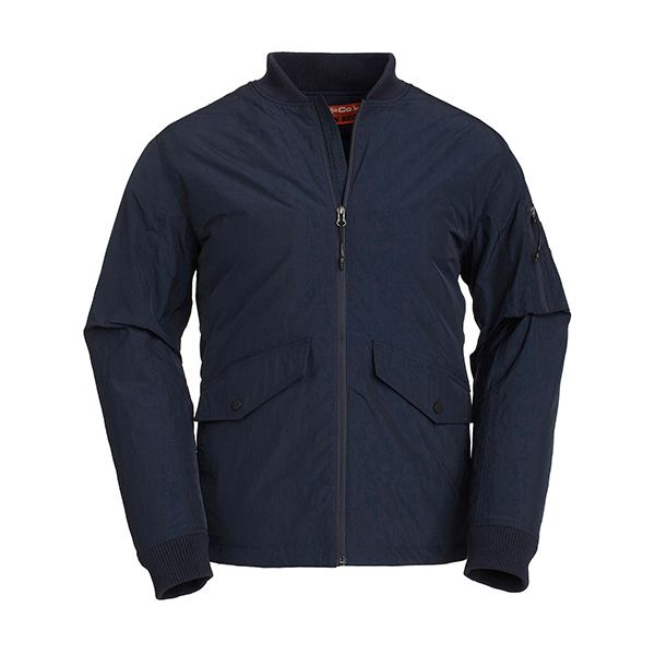 Side Paneled Bomber Dark Sea Jacket
