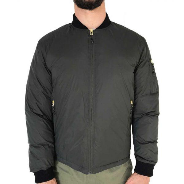 Down-Filled Garment Nylon Bomber Jacket