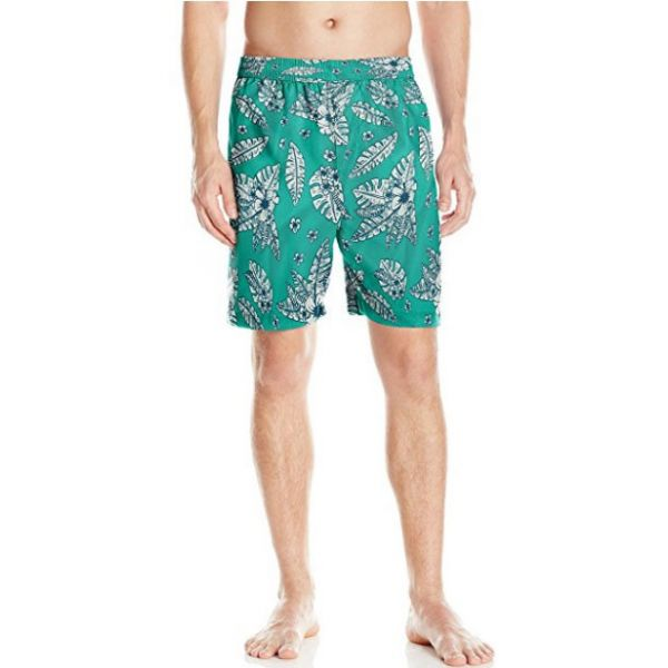 Swim Trunk - Teal Hawaiian Print