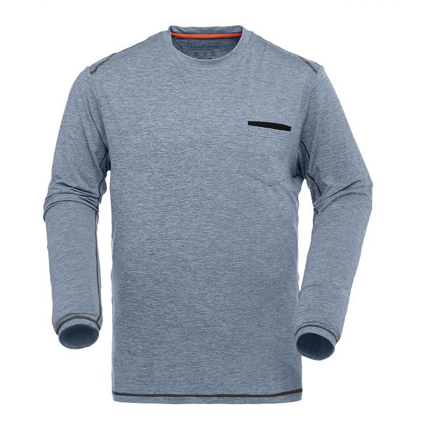 Heather Jersey Long Sleeve Crew