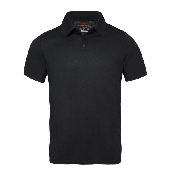 Wool Blend Short Sleeve Polo
