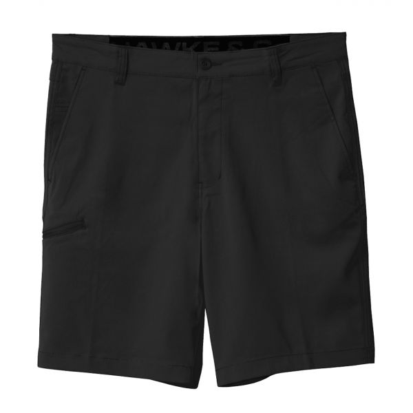 Black Hybrid Stretch Shorts