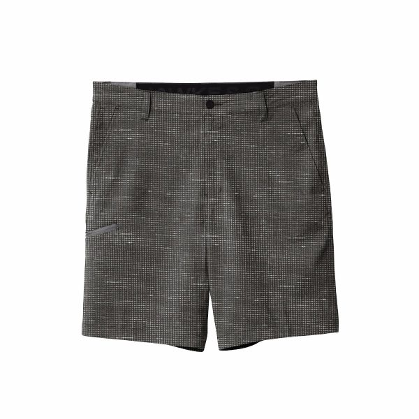 Black Crosshatch Performance Flex Shorts