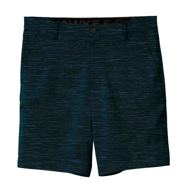 Heather Navy Hybrid Stretch Shorts