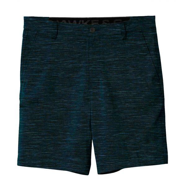 Heather Navy Hybrid Stretch Shorts