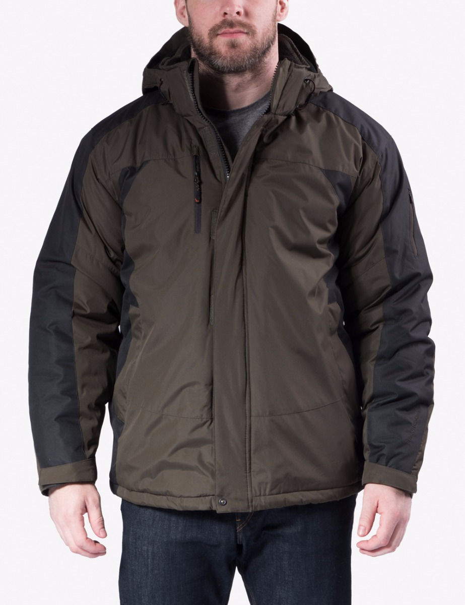 Hawke /& Co Mens Lightweight Packable Down Jacket Rain and Wind Resistant Shell and Hidden Hood